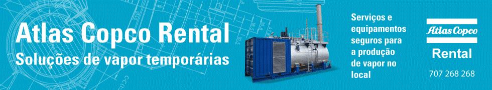 Atlas Copco Rental: serviços e equipamientos seguros para a produçao de vapor no local