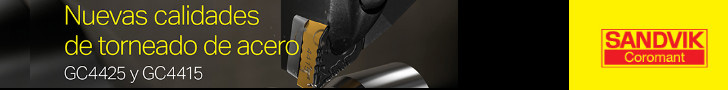Sandvik: nuevas calidades de torneado de acero GC4425 y GC4415