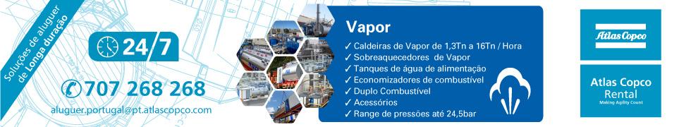 Atlas Copco: vapor - caldeiras de vapor de 1,3 a 16 toneladas/hora