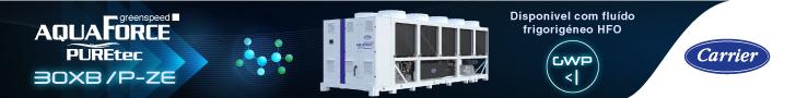 Carrier: AquaForce PUREtec disponivel com fluido frigorigéneo HFO