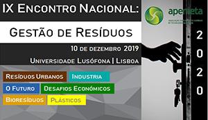 IX Encontro Nacional: gestaõ de resíduos 10 de dezembro 2019
