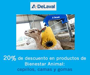 Delaval: 20% de descuento en productos de Bienestar Animal: cepillos, camas y gomas