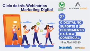Anfaje: ciclo de três webinários Marketing Digital