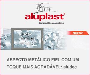 Aluplast: aspecto metàlico fiel com um toque mais agraável: aludec