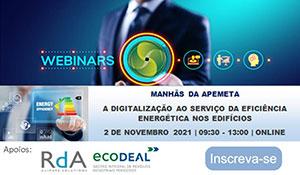 Webinars: manhãs de Apemeta 2 de novembro 2021 9:30 - 13:00 Online
