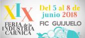 XIX feria de la industria cárnica del 5 al 8 de junio FIC Guijuelo